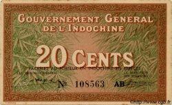 20 Cents INDOCHINE FRANÇAISE  1939 P.086c SPL