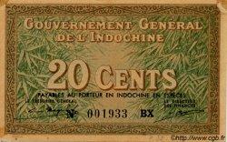 20 Cents INDOCHINE FRANÇAISE  1939 P.086d SUP+