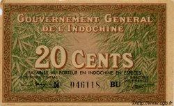 20 Cents INDOCHINE FRANÇAISE  1939 P.086d SUP