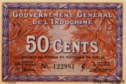 50 Cents INDOCHINE FRANÇAISE  1939 P.087a SUP