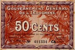 50 Cents INDOCHINE FRANÇAISE  1939 P.087d TTB+