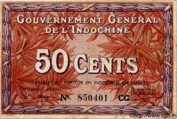 50 Cents INDOCHINE FRANÇAISE  1939 P.087d TTB