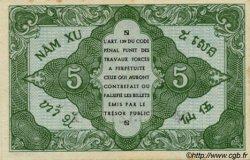 5 Cents INDOCHINE FRANÇAISE  1943 P.088a