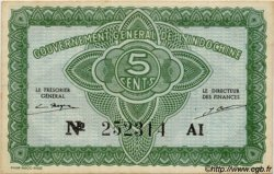 5 Cents INDOCHINE FRANÇAISE  1943 P.088a NEUF