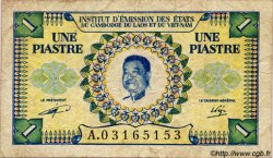 1 Piastre - 1 Kip INDOCHINE FRANÇAISE  1952 P.099 TB