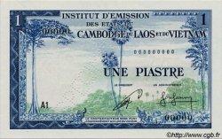 1 Piastre / 1 Riel INDOCHINE FRANÇAISE  1954 P.094s NEUF