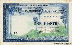 1 Piastre - 1 Kip INDOCHINE FRANÇAISE  1954 P.100 SUP