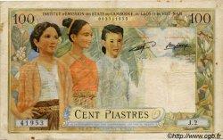 100 Piastres / 100 Kip INDOCHINE FRANÇAISE  1954 P.103 B+