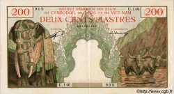 200 Piastres / 200 Riels INDOCHINE FRANÇAISE  1953 P.098 pr.SPL