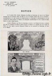 200 Piastres / 200 Dong INDOCHINE FRANÇAISE  1954 P.109 TTB