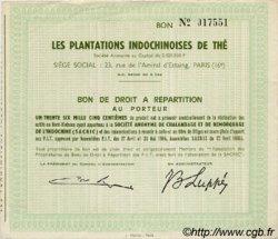 Bon au porteur INDOCHINE FRANÇAISE  1965 P.- SUP