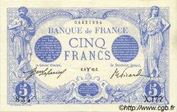 5 Francs BLEU FRANCE  1912 F.02.03 SUP