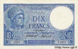 10 Francs MINERVE FRANCE  1918 F.06.03 pr.NEUF
