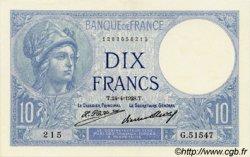 10 Francs MINERVE FRANCE  1928 F.06.13 SPL