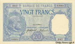 20 Francs BAYARD FRANCE  1919 F.11.04 SPL