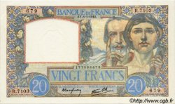 20 Francs SCIENCE ET TRAVAIL FRANCE  1942 F.12.21