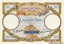 50 Francs LUC OLIVIER MERSON type modifié FRANCE  1932 F.16.03