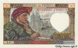 50 Francs JACQUES CŒUR FRANCE  1940 F.19.01 pr.NEUF
