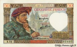50 Francs JACQUES CŒUR FRANCE  1941 F.19.09 SPL+