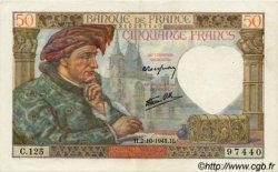 50 Francs JACQUES CŒUR FRANCE  1941 F.19.15 SUP+