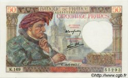 50 Francs JACQUES CŒUR FRANCE  1942 F.19.20 NEUF