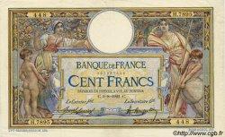 100 Francs LUC OLIVIER MERSON sans LOM FRANCE  1921 F.23.14 TTB