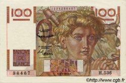 100 Francs JEUNE PAYSAN FRANCE  1953 F.28.36 pr.SPL