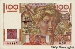 100 Francs JEUNE PAYSAN filigrane inversé FRANCE  1953 F.28bis.02 SPL+