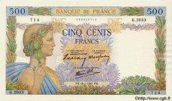 500 Francs LA PAIX FRANCE  1941 F.32.13 NEUF