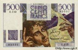 500 Francs CHATEAUBRIAND FRANCE  1952 F.34.09 SUP+ à SPL