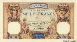 1000 Francs CÉRÈS ET MERCURE FRANCE  1927 F.37.01 SUP+ à SPL