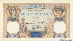 1000 Francs CÉRÈS ET MERCURE type modifié FRANCE  1938 F.38.28 pr.NEUF