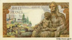 1000 Francs DÉESSE DÉMÉTER FRANCE  1943 F.40.22 NEUF