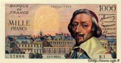 1000 Francs RICHELIEU FRANCE  1953 F.42.01 NEUF