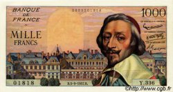 1000 Francs RICHELIEU FRANCE  1957 F.42.26 pr.SPL