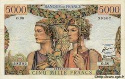 5000 Francs TERRE ET MER FRANCE  1951 F.48.03 SUP