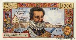 5000 Francs HENRI IV FRANCE  1958 F.49.06 SPL