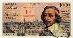 10 NF sur 1000 Francs RICHELIEU FRANCE  1957 F.53.01 pr.SPL