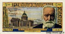 5 Nouveaux Francs VICTOR HUGO FRANCE  1959 F.56.01 pr.SPL