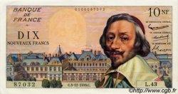 10 Nouveaux Francs RICHELIEU FRANCE  1959 F.57.04 SUP à SPL