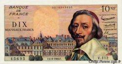 10 Nouveaux Francs RICHELIEU FRANCE  1960 F.57.09 pr.NEUF