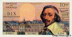 10 Nouveaux Francs RICHELIEU FRANCE  1963 F.57.22 NEUF