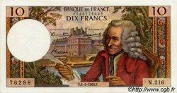 10 Francs VOLTAIRE FRANCE  1966 F.62.19 pr.SPL