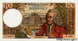 10 Francs VOLTAIRE FRANCE  1970 F.62.42 NEUF