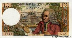 10 Francs VOLTAIRE FRANCE  1973 F.62.61 SPL+