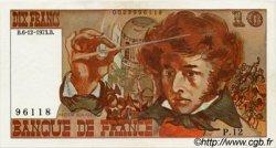 10 Francs BERLIOZ sans signatures FRANCE  1973 F.63bis SPL