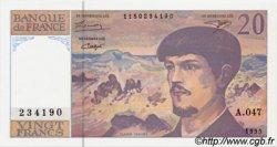 20 Francs DEBUSSY modifié FRANCE  1995 F.66ter.01 NEUF