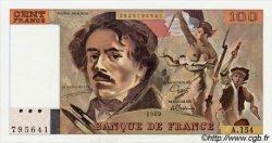 100 Francs DELACROIX modifié FRANCE  1989 F.69.13d NEUF