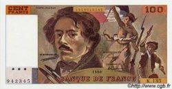 100 Francs DELACROIX imprimé en continu FRANCE  1990 F.69b.01a NEUF