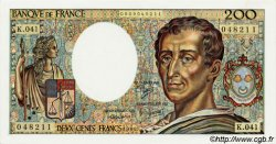 200 Francs MONTESQUIEU FRANCE  1986 F.70.06 SPL
